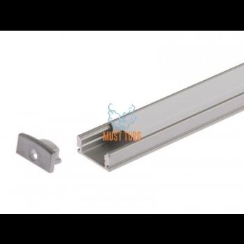 Alumiiniumprofiil led valgusribale 17.3x8x1000mm