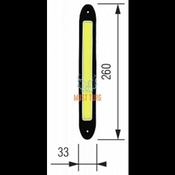 LED-päevatuled 10W 12-24V vasak+parem 260X33X6mm 2tk Bosma