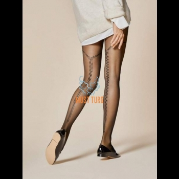 Fiore patterned Tights 20den Fidele