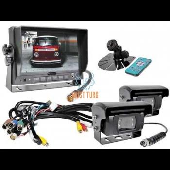 """Parkimiskaamera komplekt 7"""" monitoriga ja 2 kaameraga 013"""