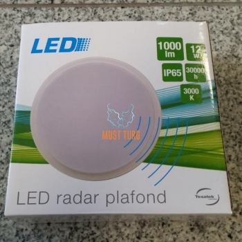 Led radar dome cover round 160mm white 1000lm 12W IP65
