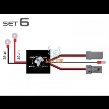 Additional light wiring set CAN 12V 2x150W, 24V 2x300W