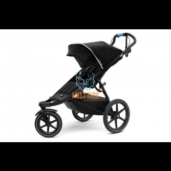 Thule Urban Glide 2 baby carriage color black