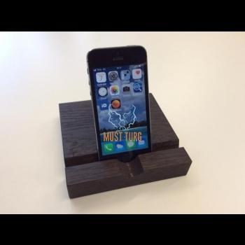 Tammepuust nutitelefoni ja tahvelarvuti alus 25x120x130mm värvus tume