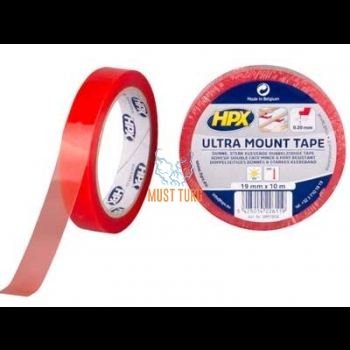 Double-sided tape transparent width 19mm in roll 10m