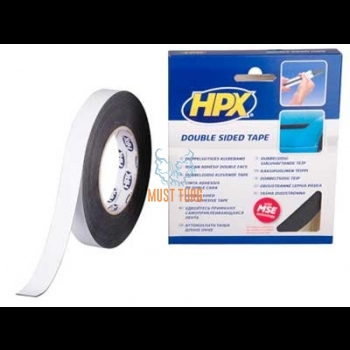 Double-sided tape black strip width of 19mm 10m / roll