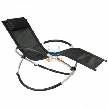 Deck chair with aluminum frame 145x77x86cm black