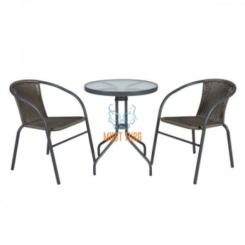 Balcony set table and 2 chairs