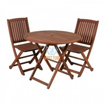 Komplekt puidust laud Nantes ja 2 tooli Modena