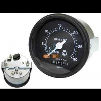 Tachometer with 0-3000rpm hour meter 12-24V