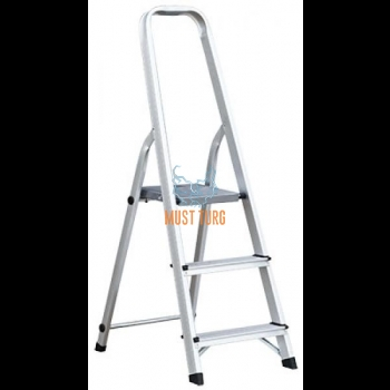 Household ladder with 3 steps height 116cm