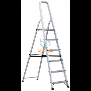Household ladder with 6 steps height 122cm