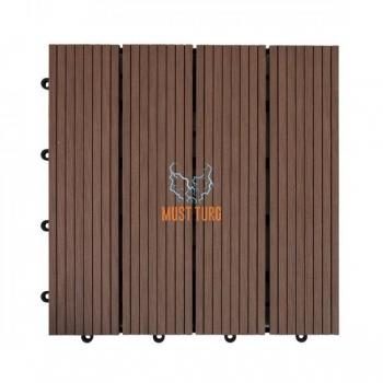 Terrassiplaat 30x30x2,2cm kunstpuidust värvus: pruun