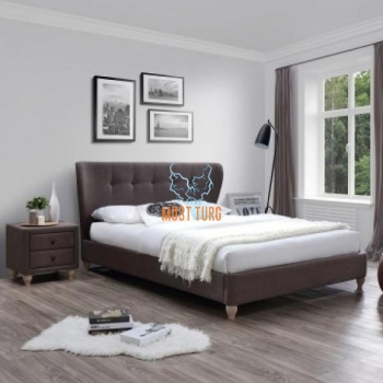 Bed Victoria 160x200cm brown without mattress