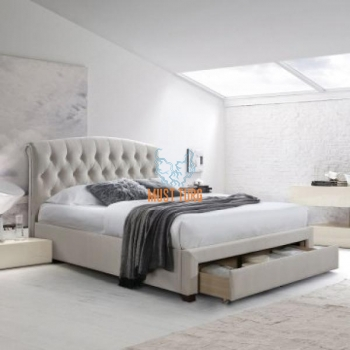 Bed with Natalia drawer 160x200cm Champagne without mattress