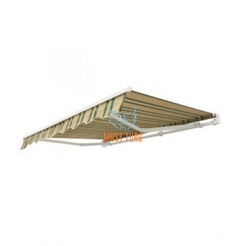 Awning 3x2m, green-beige striped