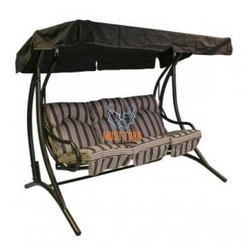 Garden swing Montreal 3-seater steel frame color: bronze