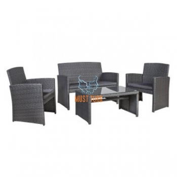 Garden furniture set with Fairlop table, sofa and 2 chairs