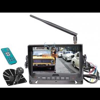 """HD digital screen 7"""" Wireless 4 channels 10-32V"""