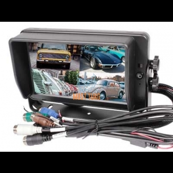 "HD digital screen with touch screen 7 ""10-32V 4 channels"