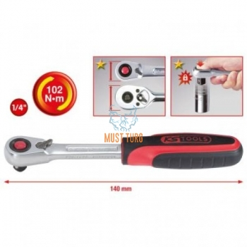 "Narre 1/4"" Slimpower 140mm KS Tools"
