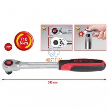 """Wrench 1/2 """"Slimpower 245mm 670NM KS Tools"""