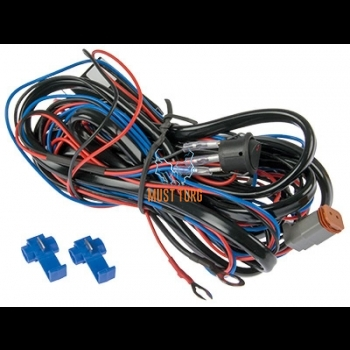 Wiring harness for single light with Deutch plug 12V max 300W