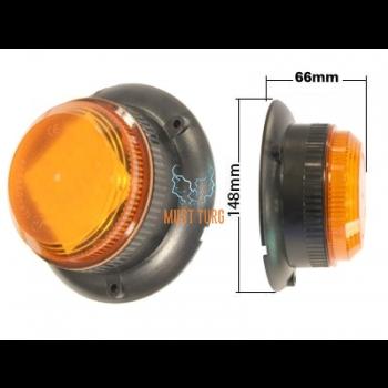 Vilkur led kollane 10-30V 36W 3-poltkinnitus IP65 E-sertifikaadiga