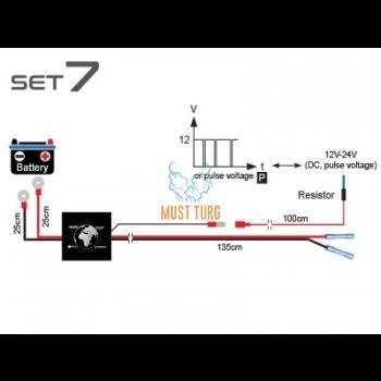 Additional light harness for 1 light 12V: 200W 24V: 400W CAN