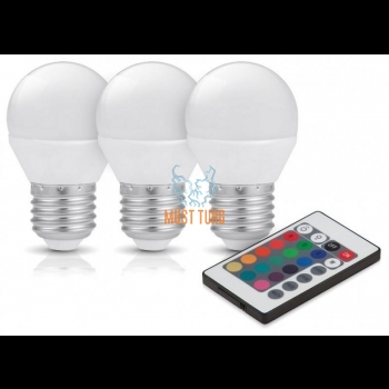 Bulbs Led E27 colored 3.5W 200LM 3000K 3pcs KOBI