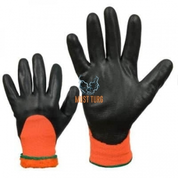Thermal lined nylon gloves coated with foam nitrile no.10