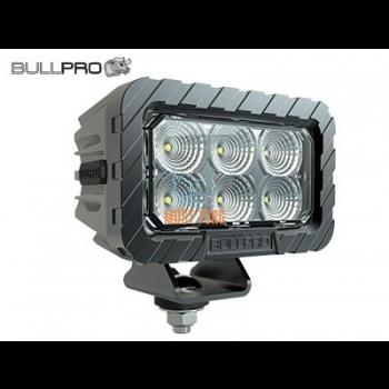 Work light 60W 12-48V 5000lm IP68 ADR EMC CISPR 25 Class 5 point lighting Bullpro