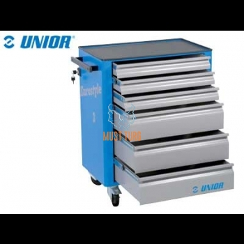 Tool trolley with 6 drawers Unior Eurostyle 895x760x440mm