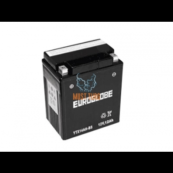 Motorcycle battery 12Ah (+ / -) 12V 134x89x163mm