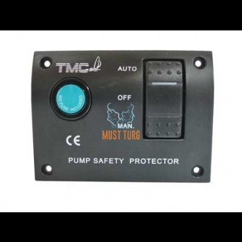 Switch panel for bilge pump 12V Auto-Off-Man