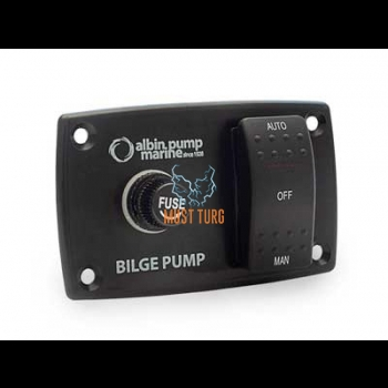 Switch panel for bilge pump 12-24V Auto-Off-Man
