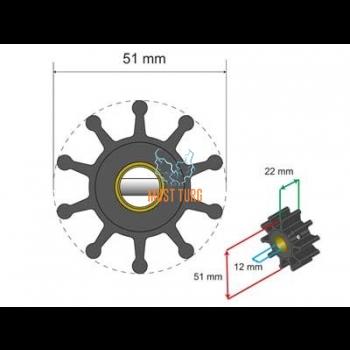 Premium Impeller Kit 51x12x22mm 71g Jabsco JMP