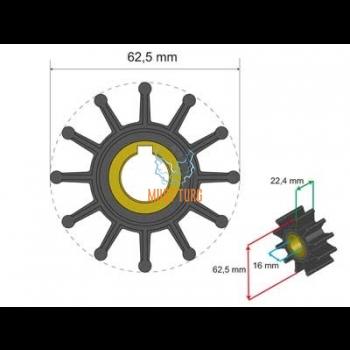 Premium Impeller Kit 62.5x16x22.4mm 119g JMP Sherwood