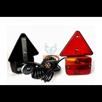 Trailer light set with magnetic triangular cable length 7m