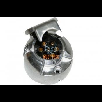 Trailer socket 7-pin metal