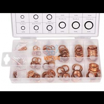 Set of copper washers 150 pieces