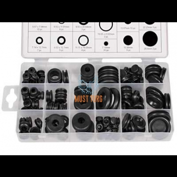 Rubber grommets open and blind type 125pcs
