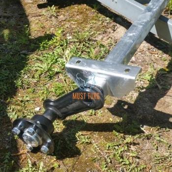 Trailer axle VG7-L 750KG B1500 4X100 KNOTT