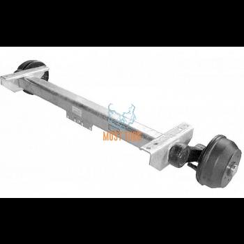 Trailer axle with brakes AKS.VGB10-M 1050KG B1600 4X100 Knott