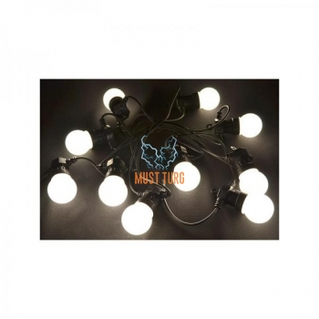 Party light line with white 10 led lamp 3.7m IP44 24V CL002