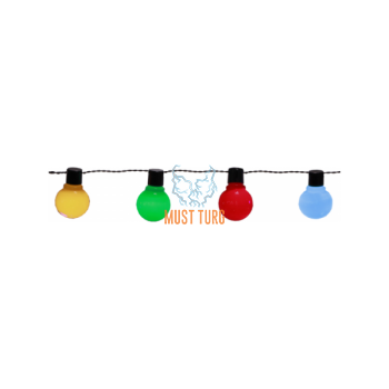 Party light line with colored 16 led lamp 4.5m IP44 24V