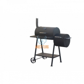 Charcoal BBQ grill with chimney 100x55x120cm