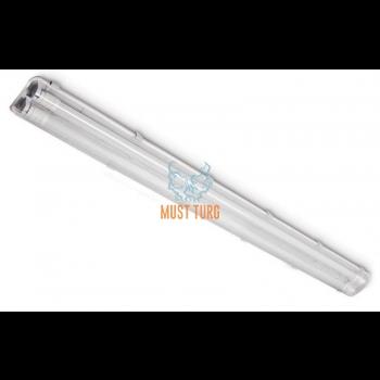Luminaire frame with plastic glass T8 Led 230V 2x120cm IP65 Kobi