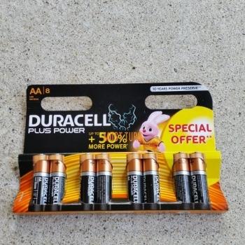 Batteries AA 1.5V MN1500 8pcs duracell Plus Power