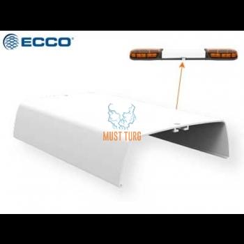 Medium white glass flashing panel ECCO 1250mm